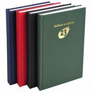 Exacompta agenda euro-cents 13.5x21 cm 1 jour par page couverture toile