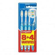 Colgate brosse à dents extra clean médium 8+4 offertes