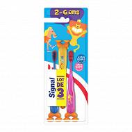 Signal Brosse à dents enfant 2 à 6 ans extra souple x3