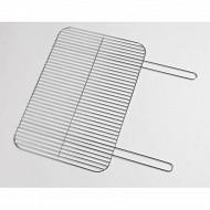 Verciel grille simple rectangulaire 60x40 cm acier chromé manche métal réf 406040 PR