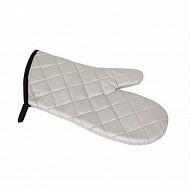 Verciel manique 32x17cm intérieur 100% polyester extérieur 100% coton gris