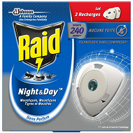 Raid night&day recharges lot 2 mouches moustiques tigres