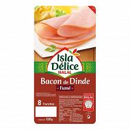 Isla délice bacon de dinde halal 120 g