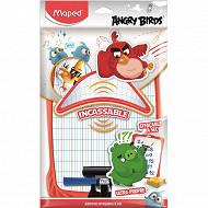 Ardoise blanche plastique + accessoires Angry Birds sachet