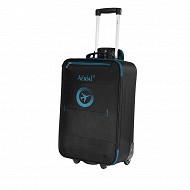 Horison valise trolley aerial 55 cm polyester noir bleu