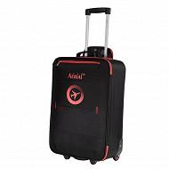 Horison valise trolley aérial 50cm noir/rouge