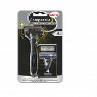 Rasoir compatible 3 manche + 4 recharges
