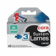 Cora lames système 3 homme 5 recharges
