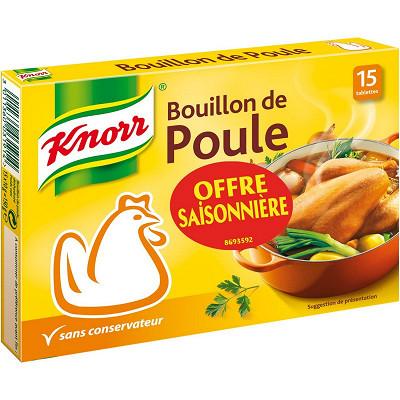 Knorr Knorr bouillon poule 15 tablettes 150g offre saisonnière
