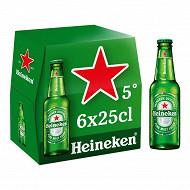 Heineken bière blonde premium 6x25cl 5%vol