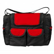 Bambisol sac à langer avec poche isotherme rouge/noir