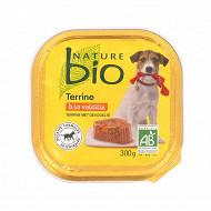Nature bio Barquette chien volaille 300g