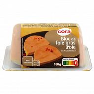 Cora bloc de foie gras d'oie avec morceaux barquette 180 g