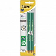Bic 4 crayons graphite évolution hb