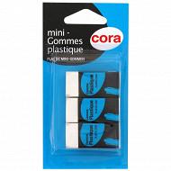 Cora 3 mini gommes plastiques