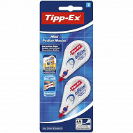 Tipp-ex mini pocket mouse blister de 2 rubans correcteur 6mmx5m