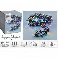 Guirlande ext microcluster 1000 led multicolore