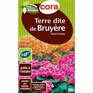 Cora terre dite de bruyère 20 l utilisable en agriculture biologique avec poignées