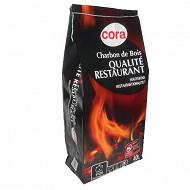 Cora charbon de bois qualité restaurant 40L
