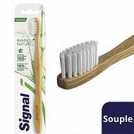 Signal brosse à dents bambou naturel souple x1