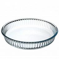 Moule à tarte en verre 26 x 3 cm