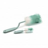 Thermobaby goupillon rotatif pour biberons + goupillon tétines vert céladon