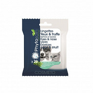 Phytosoin lingettes hygiène yeux - truffe chiens chats