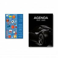 Agenda academic 12x16.5 cm 384 pages 1 jour par page décors garçons