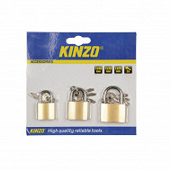 Lot de 3 cadenas 3 tailles : 40, 30, 25 cm  + clés en triples