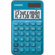 Casio calculatraice de poche 4 opérations sl310 uc bleue