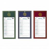 Calendrier mensuel perfore 410x200 12 feuillets exacompta