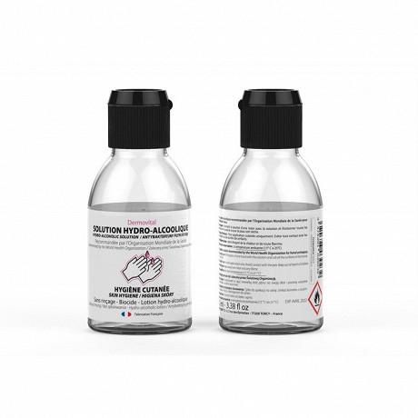 Lotion hydroalcoolique 100ml - bouchon à clapet
