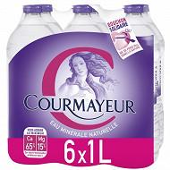 Courmayeur eau minérale 6 x 1L