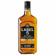 Label 5 scotch whisky classic black 70cl 40%vol