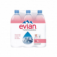Evian eau minérale naturelle  6 x 1l
