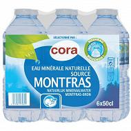 Cora eau minérale naturelle montfras 6 x 50cl