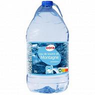 Cora eau de source de montagne Roches des Ecrins 5l