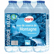 Cora eau de source de montagne Valon 6 x 1.5l