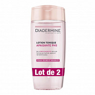 Diadermine lotion tonique apaisante demquillante 2x200ml