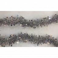 Guirlande étoiles argent 2mx6cm