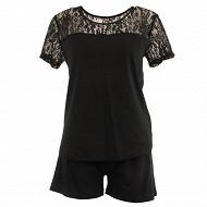 Pyjama short NOIR T50\52