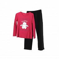 Pyjama long manches longues FUSHIA BOULOT T50/52