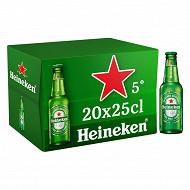 Heineken bière blonde premium 20x25cl 5%vol