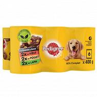 Pedigree boîtes pour chien en sauce les cuisinés aux petits légumes 6x400g