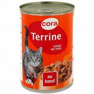 Cora terrine boeuf et légumes pour chat boîte de 400g