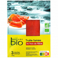 Nature bio truite fumée AB 3/4 tranches 100g