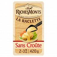 RichesMonts fromage raclette tranchettes sans croûte 48%mg 420g