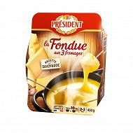 Président la fondue aux 3 fromages 2/3 personnes 450 g
