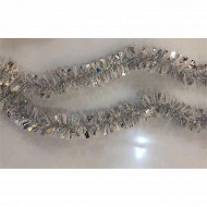 Guirlande blanc, argent 2mx5cm