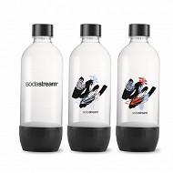 Sodastream  pack de 3 bouteilles PET 1L bulles de couleur 3000036